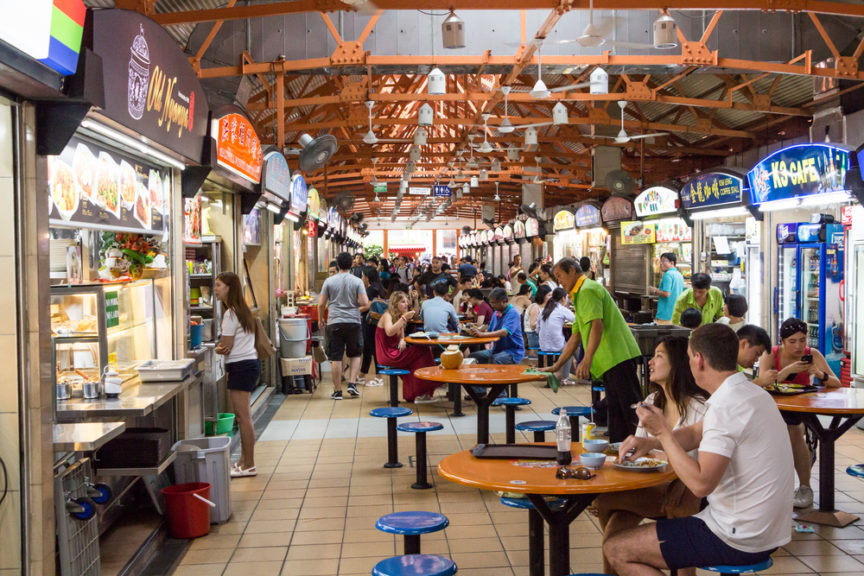 hawker centers in singapore